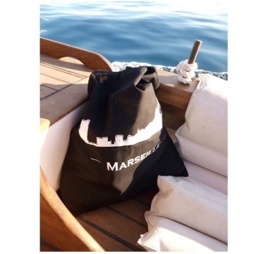 Black tote bag Marseille