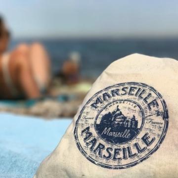 Tote bag Marseille tissu