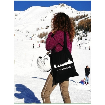 Black tote bag Marseille